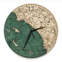 Los Angeles To San Diego Real Wood Decorative Clock