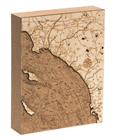 Los Angeles To San Diego Cork Map Nautical Topographic Art