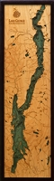 Lake George Nautical Topographic Art: Bathymetric Real Wood Decorative Chart