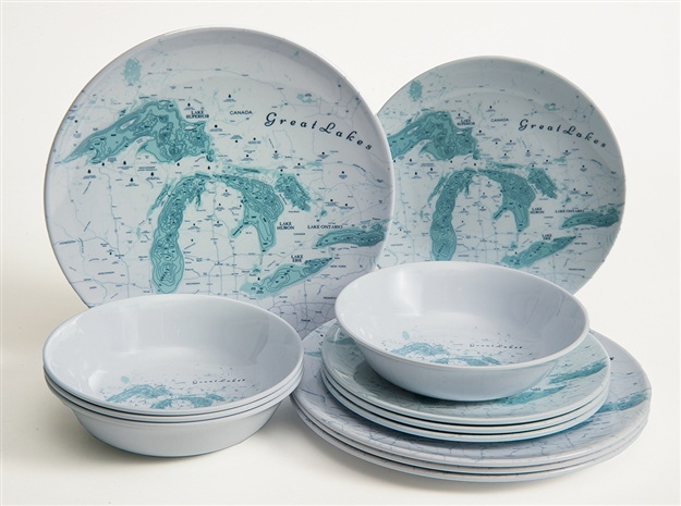 Great Lakes Melamine 12 Piece Dish Set