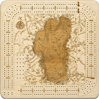 Lake Tahoe Real Wood Decorative Cribbage Board