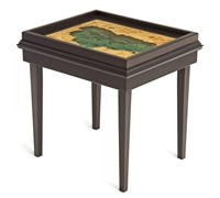 Lake Tahoe 3D Nautical Woodchart End Table