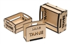 3 Piece Lake Tahoe Nested Box Set Real Wood Decorative Box Set