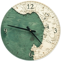 Monterey Bay Real Wood Decorative Clock