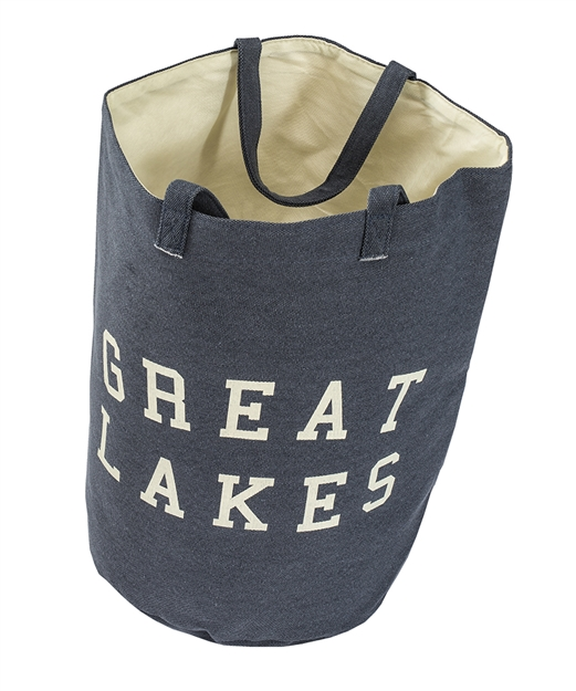 Navy Blue Great Lakes Tote Bag