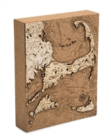 Cape Cod Cork Map Nautical Topographic Art