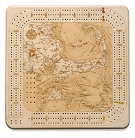 Cape Cod Real Wood Decorative Cribbage Board