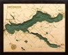3D Lake Charlevoix Nautical Real Wood Map Depth Decorative Chart
