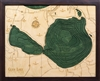 Glen Lake Nautical Topographic Art: Bathymetric Real Wood Decorative Chart