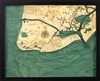 Cape May Nautical Topographic Art: Bathymetric Real Wood Decorative Chart