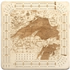 Lake Superior Real Wood Decorative Cribbage Board