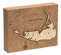 Nantucket Cork Map Nautical Topographic Art