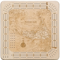 Nantucket  Real Wood Decorative Cribbage Board