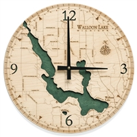 Walloon Lake Real Wood Decorative Clock