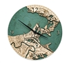 New Orleans Real Wood Decorative Clock