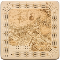 New Orleans Wood Decorative Cribbage Board