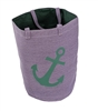 Purple Anchor Great Lakes Tote Bag