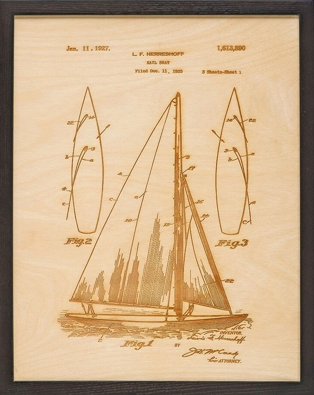 Sailboat Patent Art