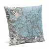 Boston Harbor Indoor Outdoor Nautical Pillow Map