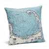 Cape Cod Indoor Outdoor Nautical Pillow Map