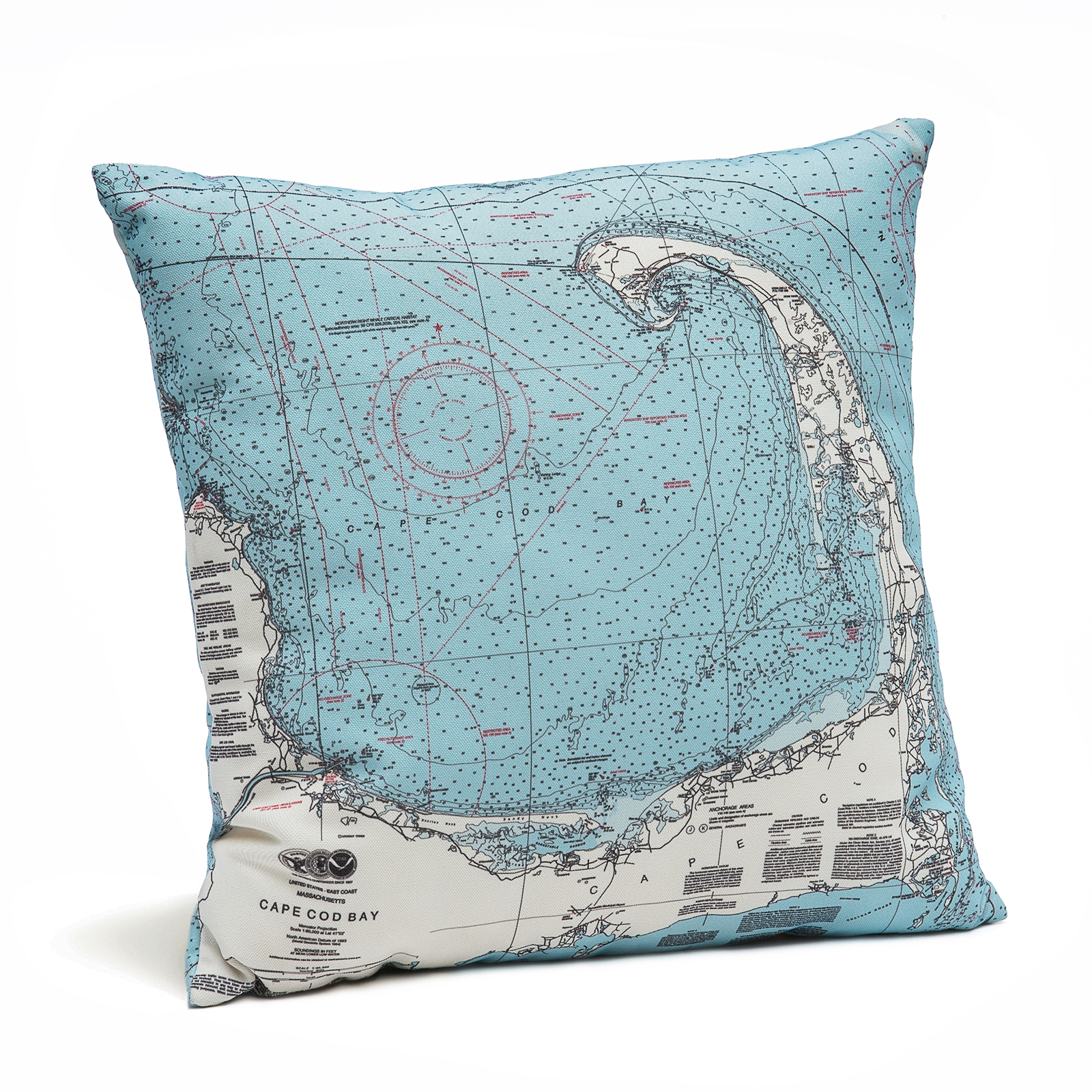 Cape Cod Map Decorative Pillow | Carved Lake Art