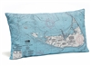 Nantucket Indoor Outdoor Nautical Pillow Map