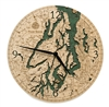 Puget Sound Real Wood Decorative Clock