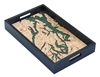 Puget Sound Nautical Real Wood Map Decorative Serving Tray