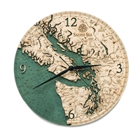 Salish Sea Real Wood Decorative Clock