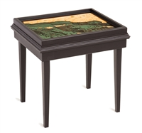Santa Barbara 3D Nautical Woodchart End Table
