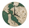 San Francisco Bay Real Wood Decorative Clock
