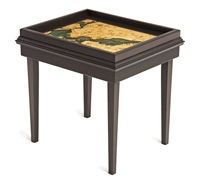 San Francisco Bay 3D Nautical Woodchart End Table