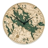 Lake Winnipesaukee Real Wood Decorative Clock