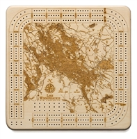 Lake Winnipesaukee Real Wood Decorative Cribbage Board