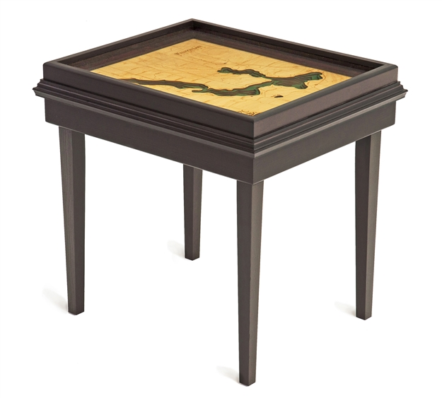 Walloon Lake 3D Nautical Woodchart End Table
