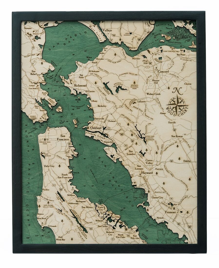 san francisco bay topographic map San Francisco Bay Depth Map San Francisco Bay Depth Chart
