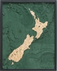 New Zealand Nautical Topographic Art: Bathymetric Real Wood Decorative Chart
