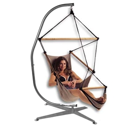 C Shaped Hammock Chair Stand - Black