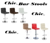 Chic Contemporary Adjustable Bar Stools - Set of 2