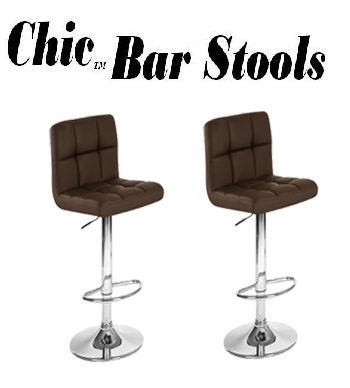chic contemporary adjustable bar stools set of 2
