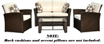 Del Mar Collection - 4pc Outdoor Wicker Furniture Set