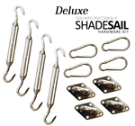 Deluxe Square / Rectangle Sail Shade Hardware Kit - Stainless Steel
