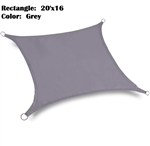 Waterproof 20'x16' Rectangle Sun Sail Shade