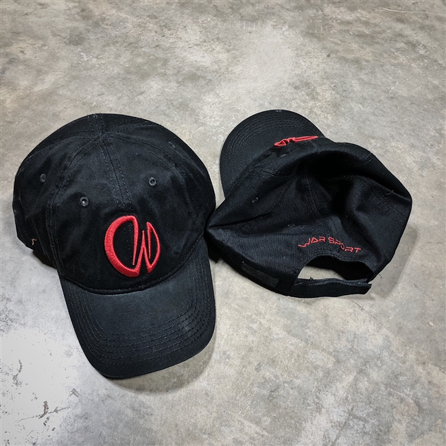 Warsport Ball Cap - Black with Red Logo