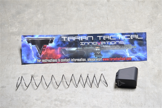 Taran Tactical Base Pad - .45 Cal Glock +4 - Flat Black