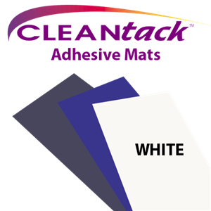CLEANtack Adhesive Mat - White (Case of 4 Mats)