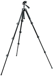 Manfrotto Bogen 293 Compact Aluminum 4 Section (Black) Tripod with (Quick Release) 3 Way Head