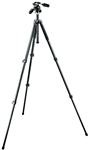 Manfrotto Bogen 294 Aluminum 3 Section (Black) Tripod with 3 Way Photo/Video Head