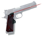 CRIMSON TRACE Lasergrip 1911 Master Series Full Size (Government & Commander) Real Rosewood Front Activation