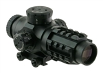 VALDADA IOR 3x25mm (30mm tube) Matte QR-TS Illuminated CQB integral picatinny mount, .223 62gr. Cam